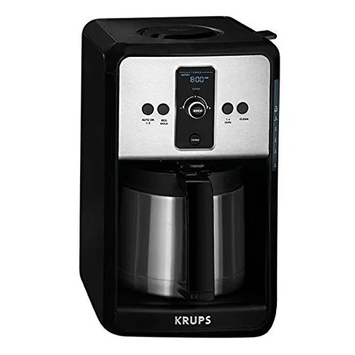 Krups Savoy Turbo 12 Cup Coffee Maker With Thermal Carafe Review Best Buymorecoffee Com Stainless Steel Coffee Maker Coffee Machine Best Coffee Machine Nespresso