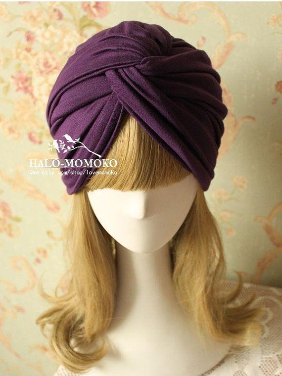 sciarpa BANDANA CAPPELLO VELVET Turban Style VINTAGE Testa Wrap perdita dei capelli