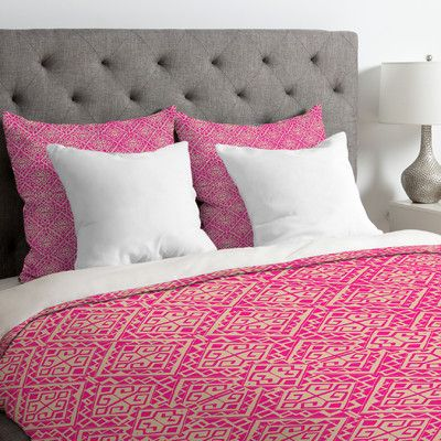 East Urban Home Aimee St Hill Eva All Over Duvet Cover Size: Twin/Twin XL