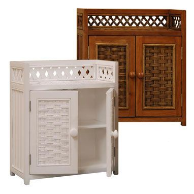 Cottage Wicker Medicine Cabinet Bathroom Wicker Cottage Wicker Medicine  Cabinet Is A Wall Or Freestanding Space Saver For Large Or Small Bathrooms.