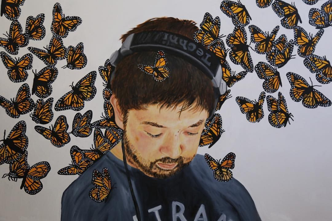 """miss-hiphop: """"#Nujabes #junseba Finally finished, my original painting. Also available on my website if you want to check it out 😊🎨👀 Print will be available soon! 🤓 """""""