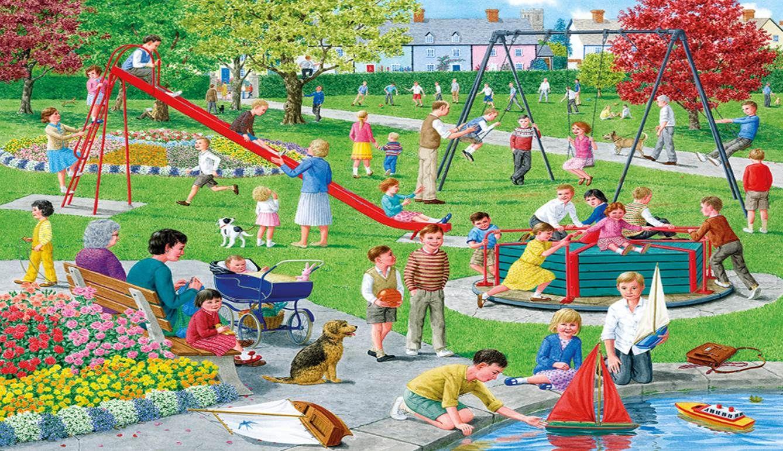 Busy Picture Scene Children