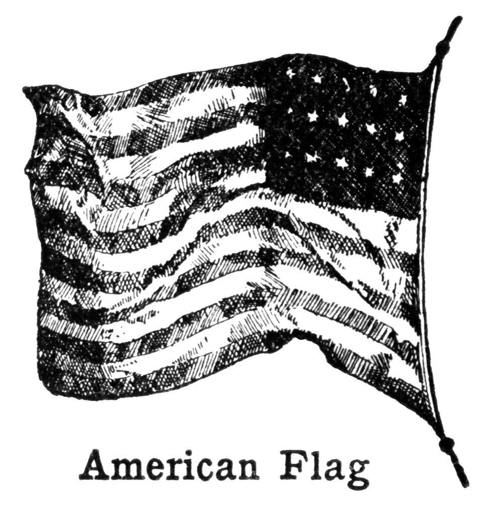 American Flag Clipart Black And White Images Clipart Black And White Black N White Images American Flag