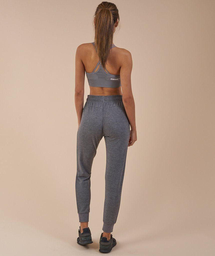 Gymshark fit bottoms charcoal marl 2 workout pants