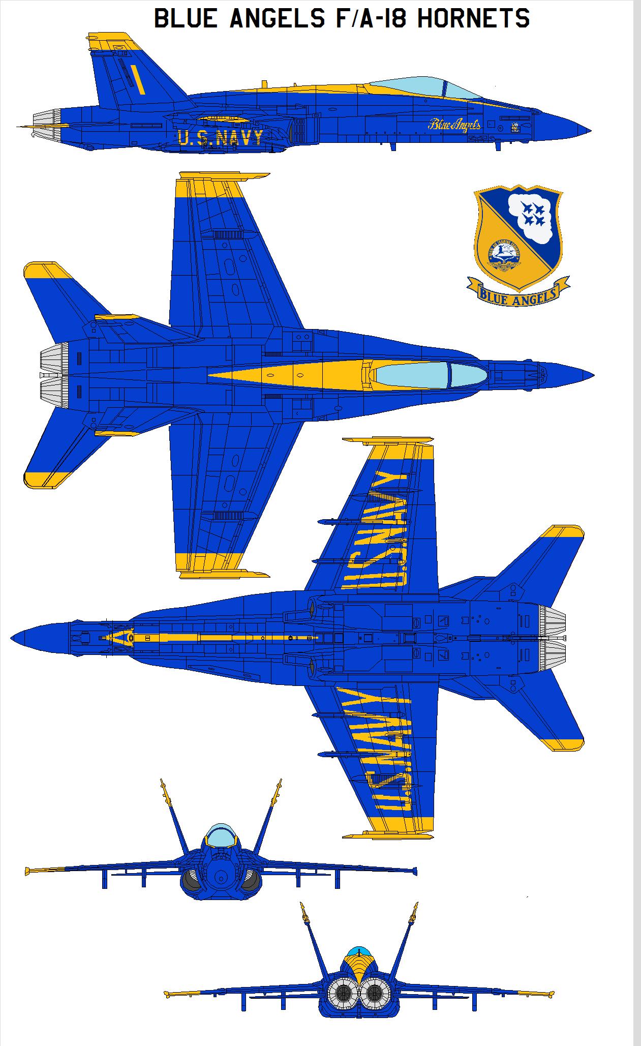 Blue Angels FA-18 Hornets by =bagera3005 on deviantART | Fleet Week