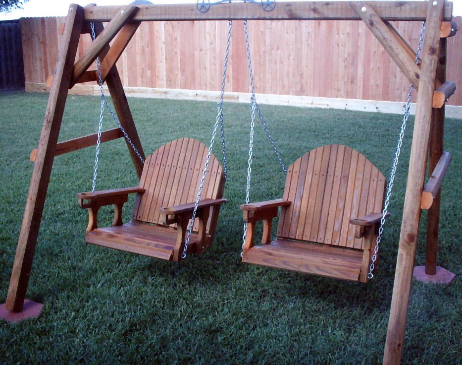 This dual 2 ft. adult porch swing is made of #1 Grade ACQ ...