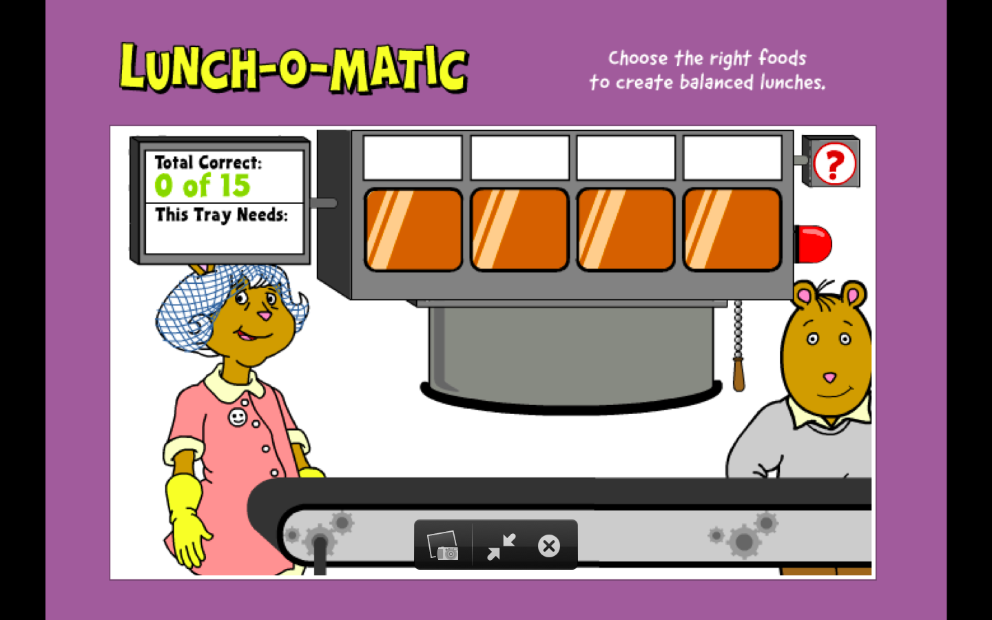 Pbskids Arthur Games Lunchomatic Lunchomatic