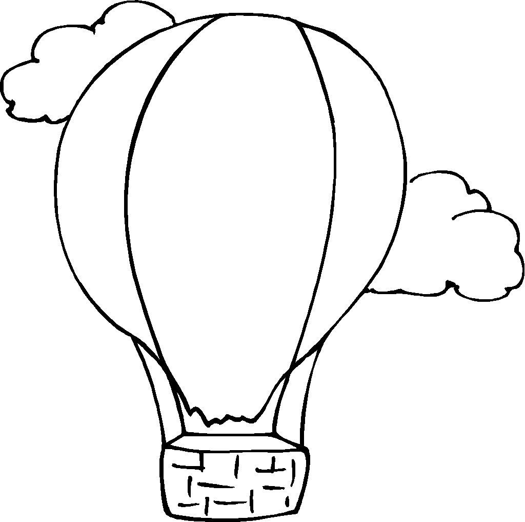 free printable hot air balloon coloring pages for kids | all types ... - Hot Air Balloon Pictures Color