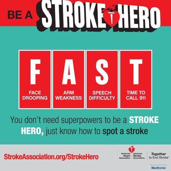 Stroke Heroes Act Fast Stroke Awareness Awareness Stroke Association