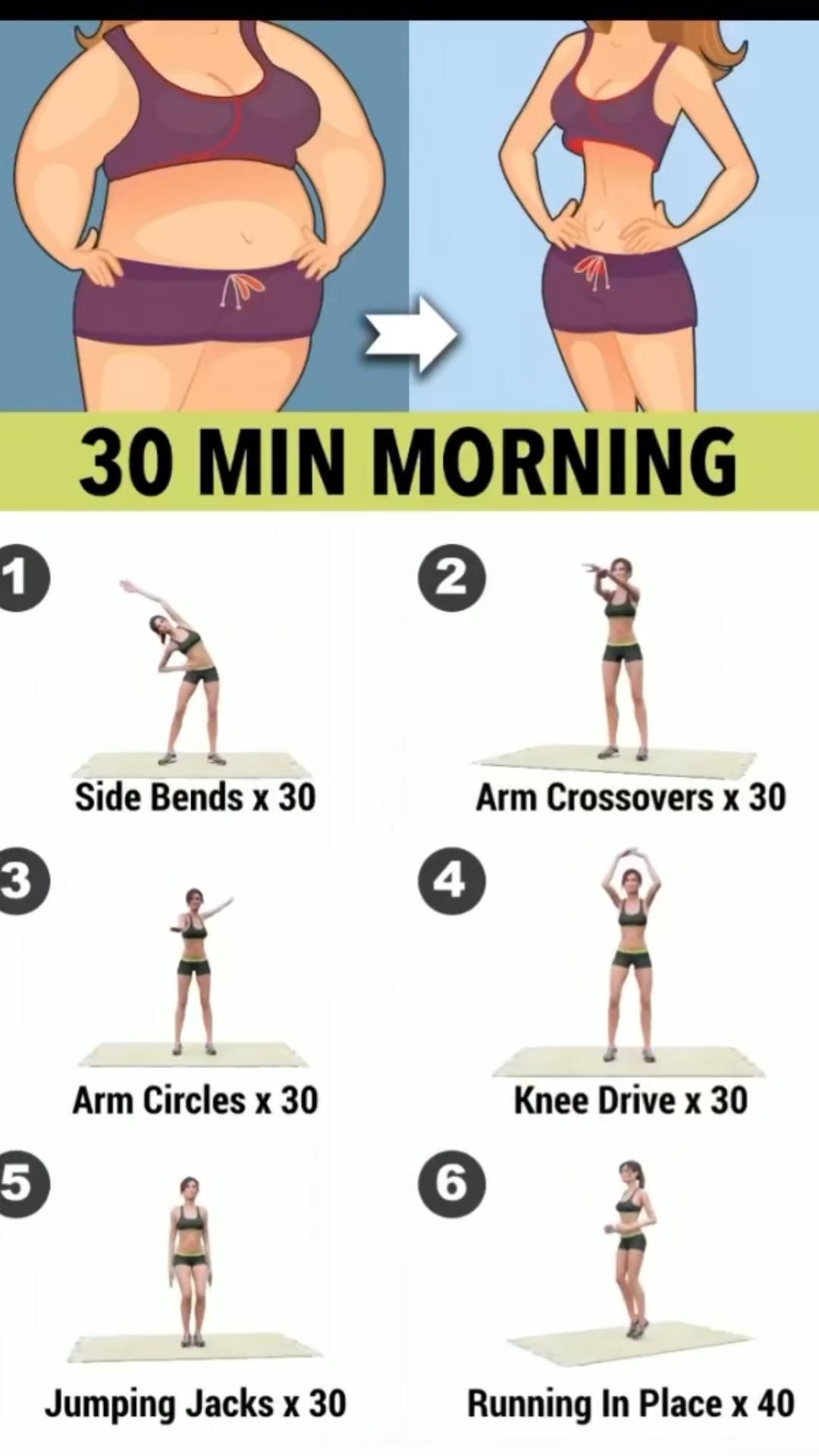 30 min morning routine to lose weight