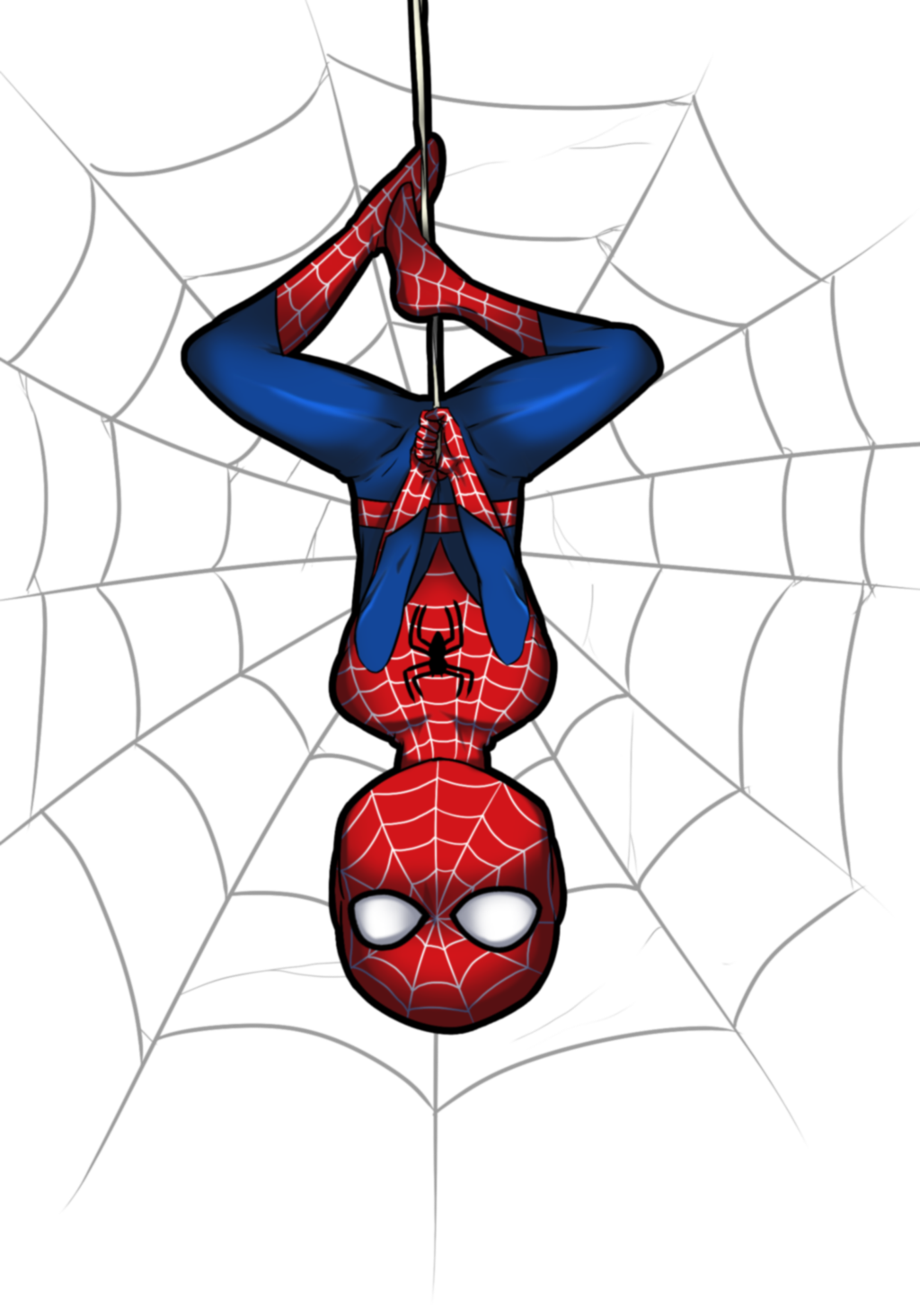 Spiderman upside down. Pin by kfay on