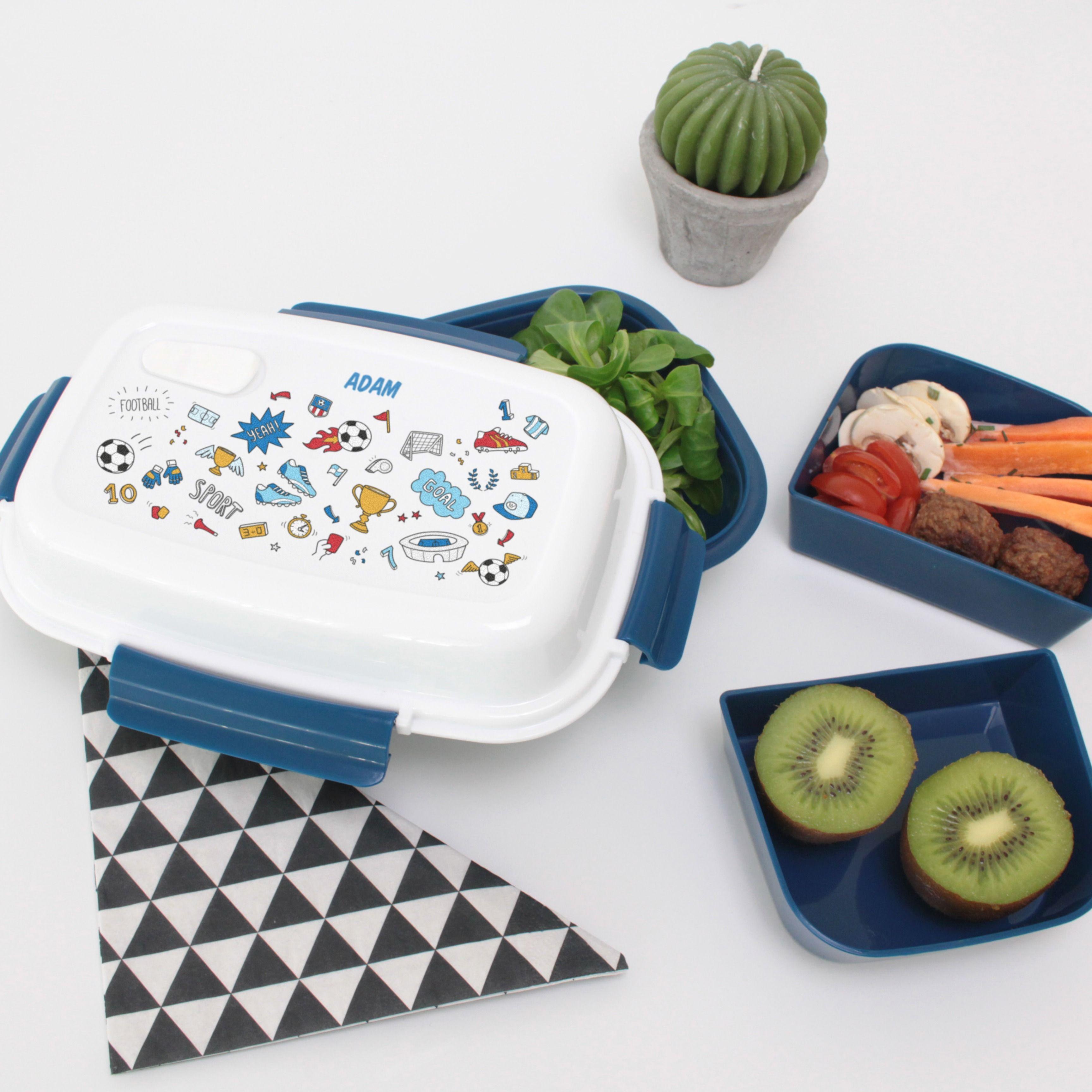 Personalisierte Brotdose Fußball  – Unsere personalisierten Brotdosen ohne BPA