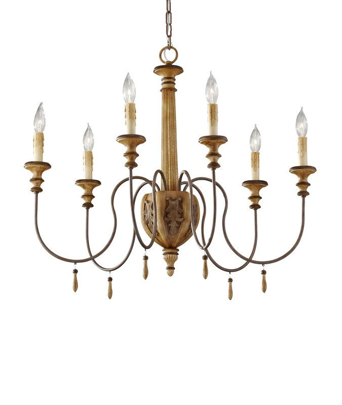 View the Murray Feiss F2733/6 Annabelle 6 Light Chandelier at LightingDirect.com.