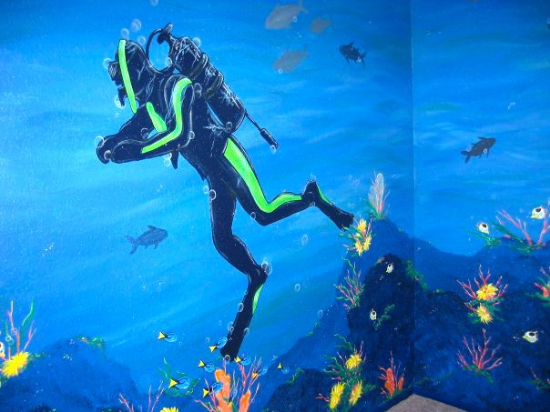 Pin By Lady Jaynne On My Artwork Underwater Theme Dove Painting Diving