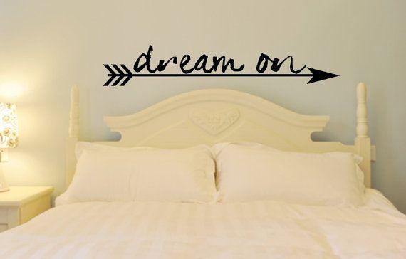Dream On. Custom Vinyl Wall Decal. Great Bedroom Decal | Custom ...