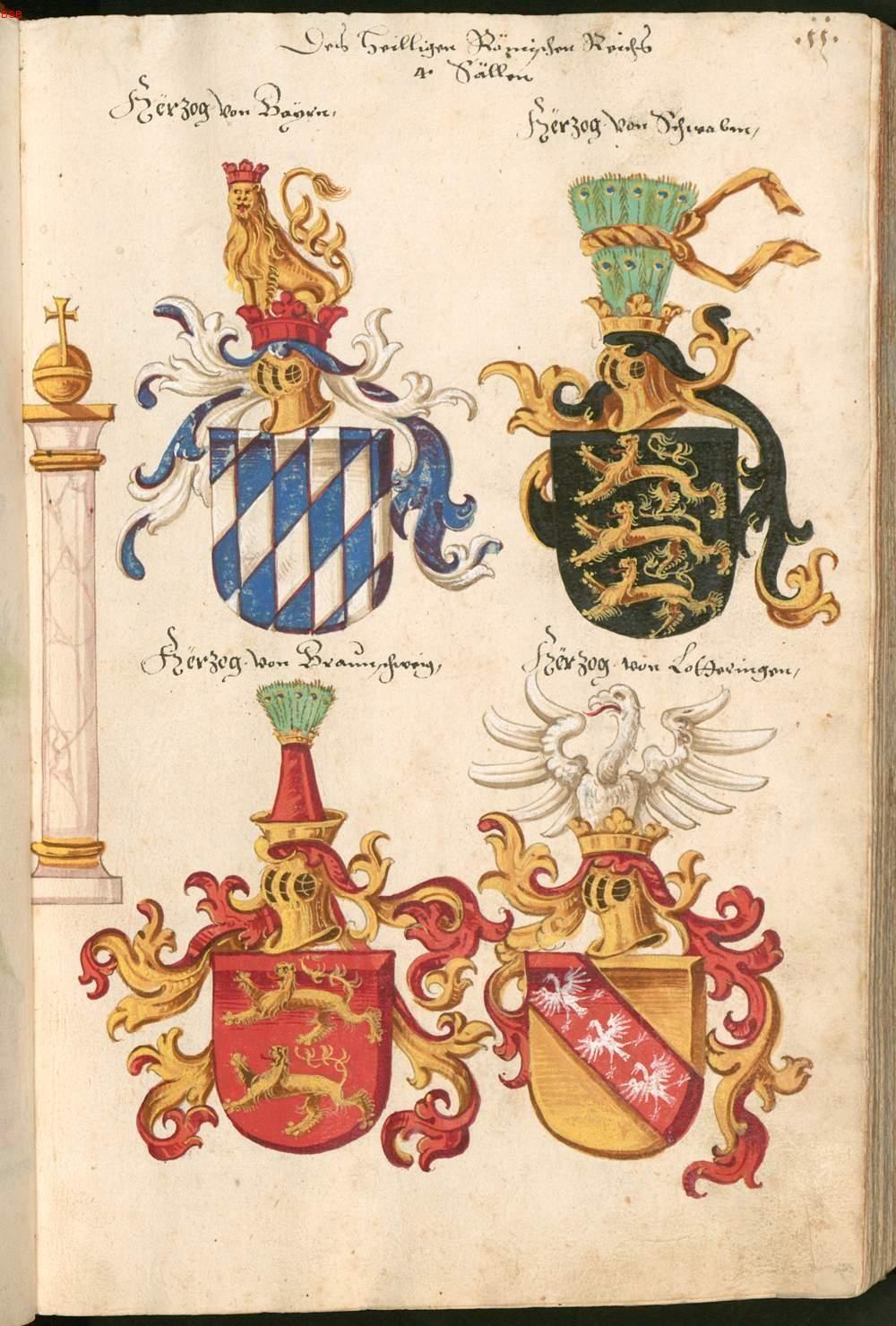 Herzöge von Bayern, Schwaben, Braunschweig, Lothringen ...