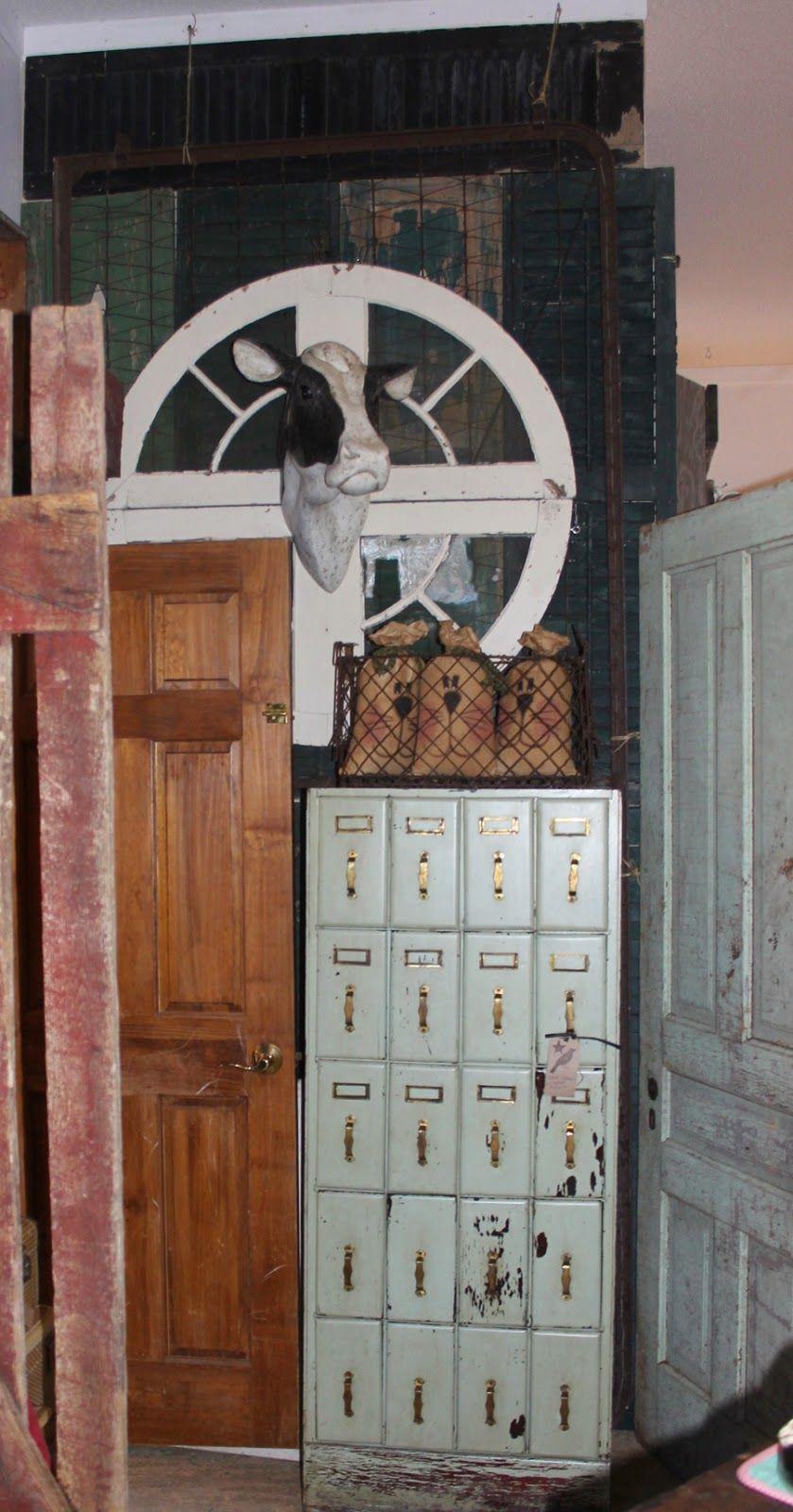 Primitive wood file cabinet at Ms. Mac's Antiques, Carver, MN
