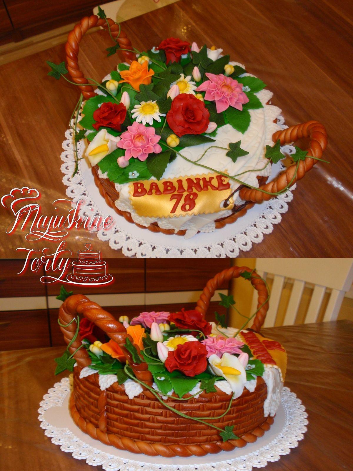 My First Flower Basket Cake Birthday Cake Basket Full Of