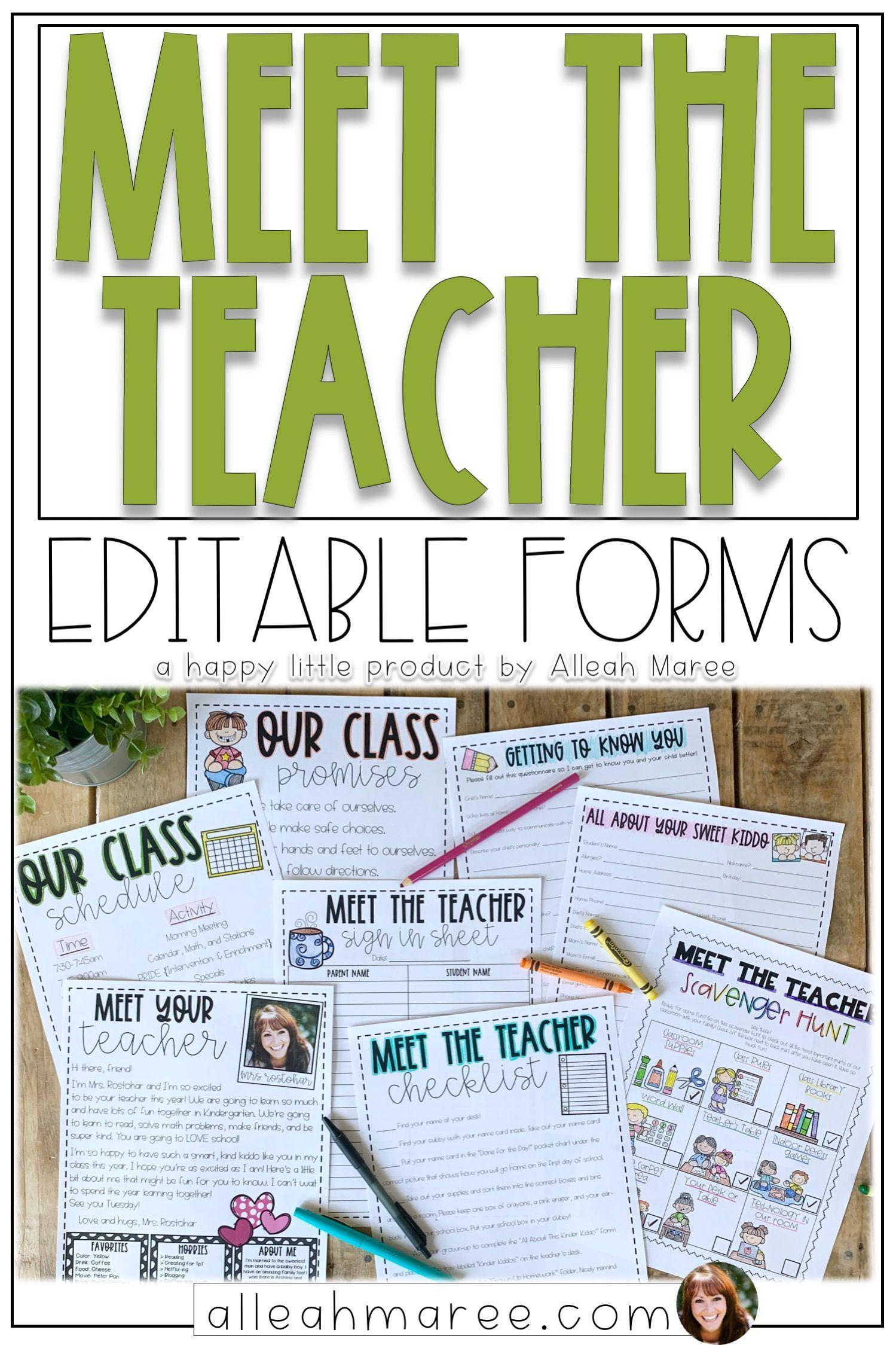 Meet the Teacher Editable Templates - Light Shiplap #meettheteacherideas