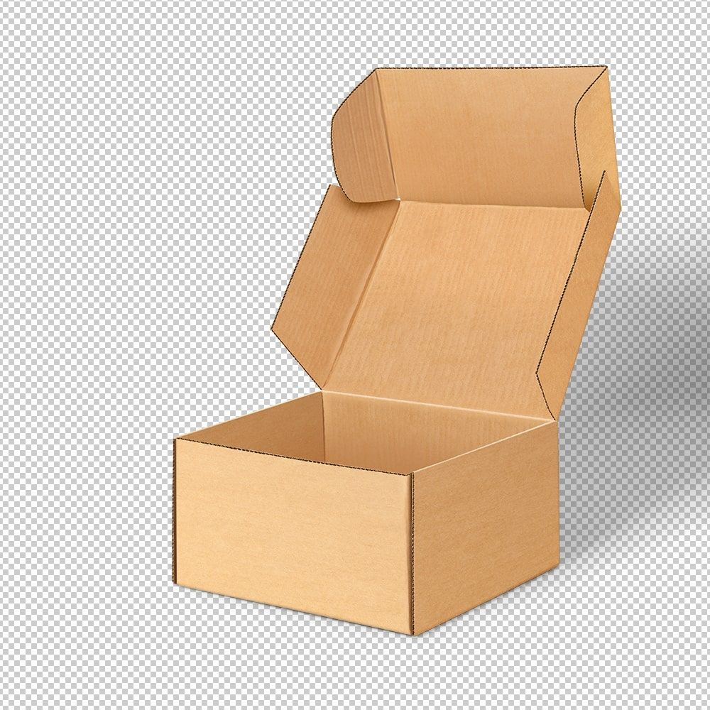 Download Open Kraft Pinch Lock Box Mockup Box Mockup Free Packaging Mockup Packaging Design Inspiration