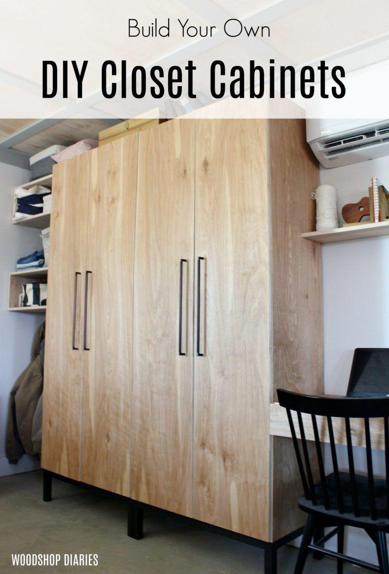 Diy Closet Cabinet With Adjustable Shelves Shoe Rack And Hanger Rod