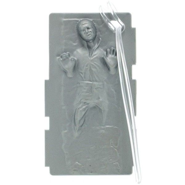 Star Wars Hans Solo Carbonite Luggage Tag, Grey ($13) ❤ liked on Polyvore featuring bags, luggage and grey