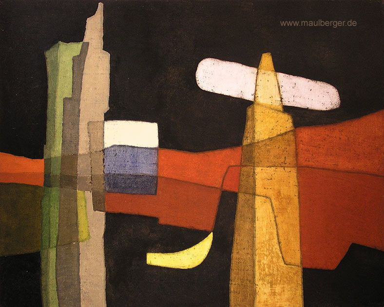 Rudolf Jahns, Erinnerungen an Jugoslawien III, 1968 ~~ art, artist, painting, painter, color, composition, Germany