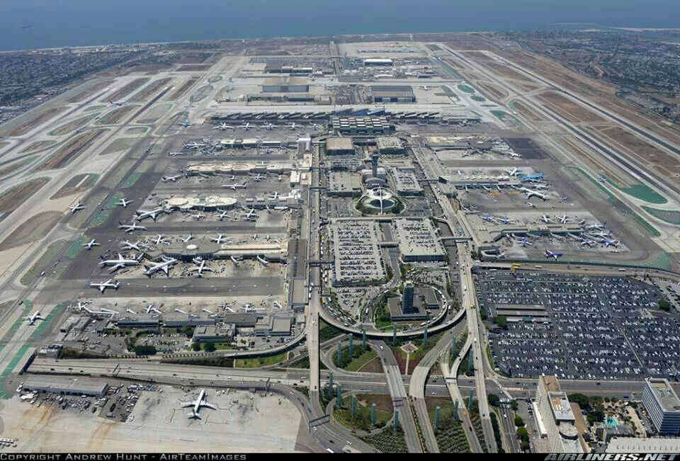 Los Angeles International Airport Lax California Usa Los Angeles International Airport Aerial View Aerial