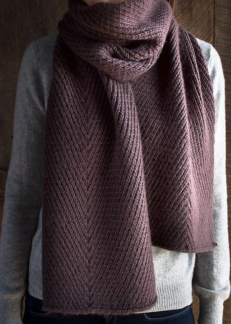 Ravelry Diagonal Twist Scarf Pattern By Purl Soho Knitting