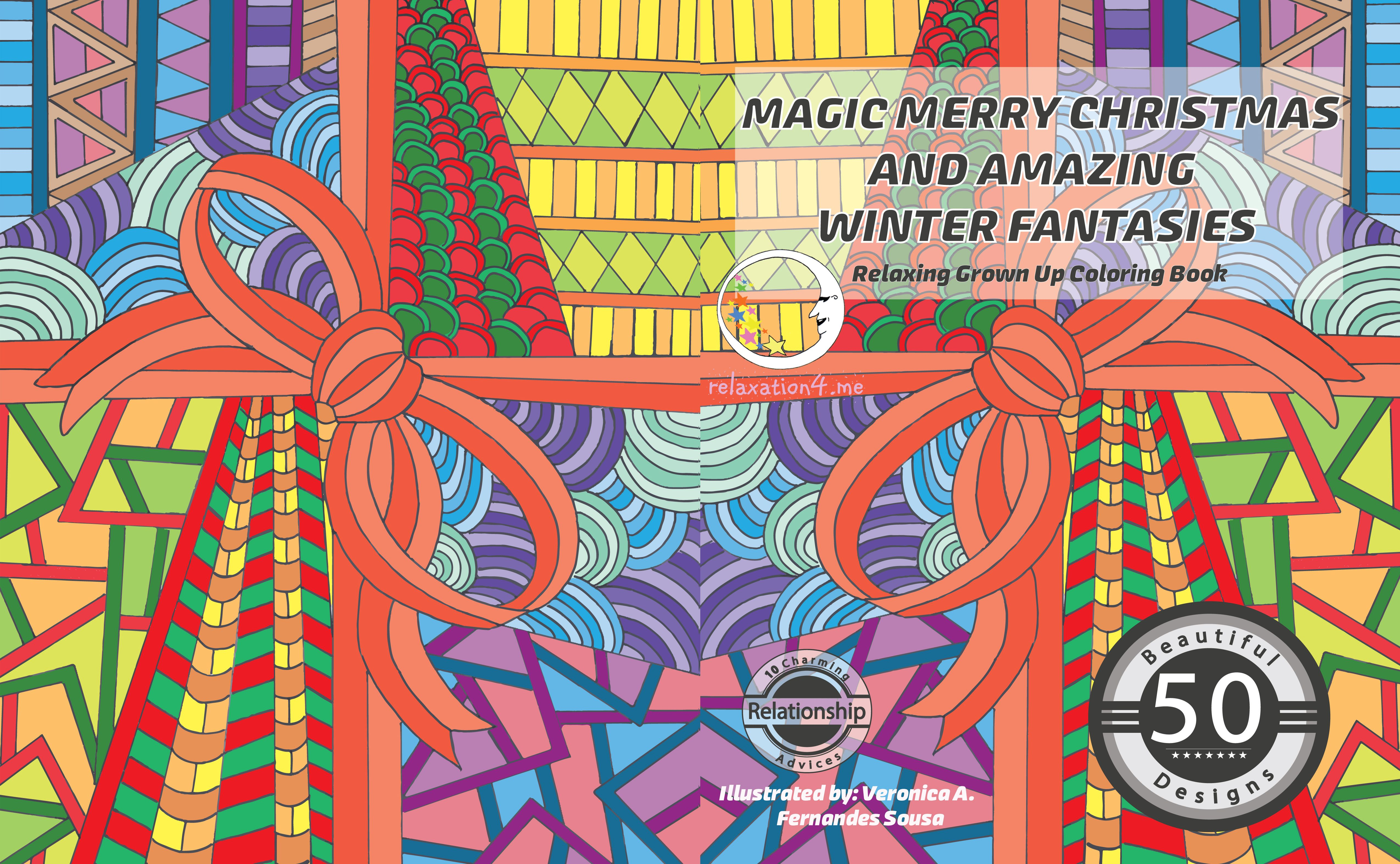 Pin On Free Anti Stress Adult Coloring Book Printables Magic Merry Christmas And Amazing Winter Fantasies Diy Art Therapy
