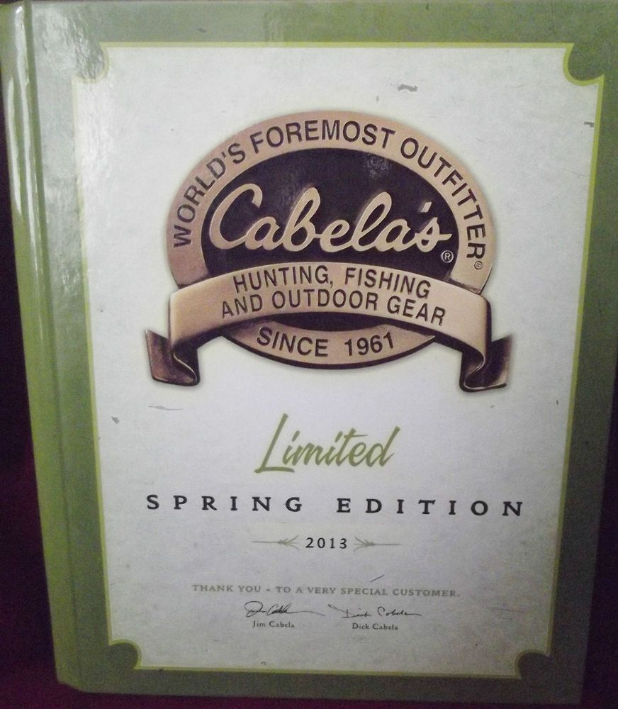 Check out #Cabela's Limited #Spring 2013 #Catalog Hardcover Tab Index Sections.
