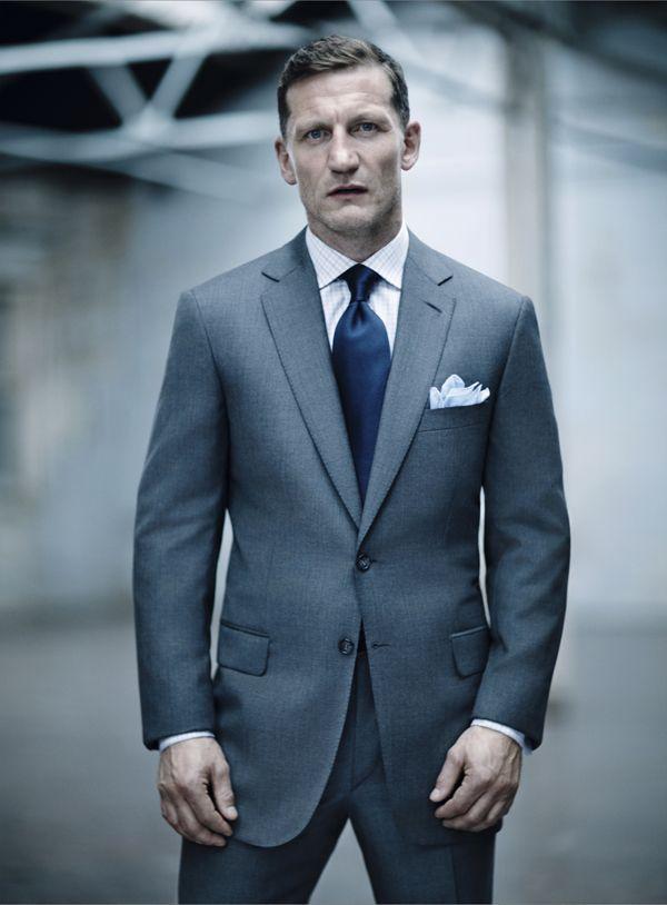 Brioni Birdseye Grey Suit