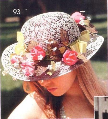Meraviglioso cappello! Schema. | capelli e cappelli | Pinterest