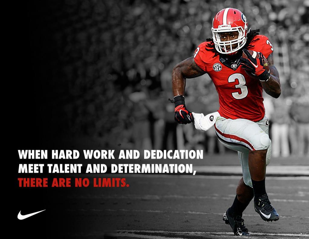Georgia Football On Twitter Georgia Football Hard Work And Dedication Sports Quotes