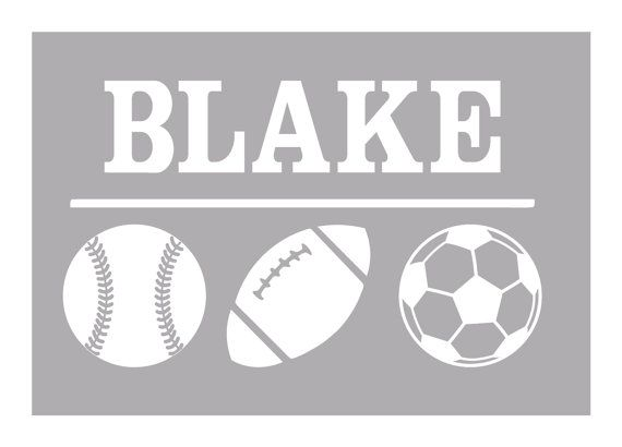 Personalized MultiSport Car Decal Laptop Decal Baseball Decal - Window decals for sports