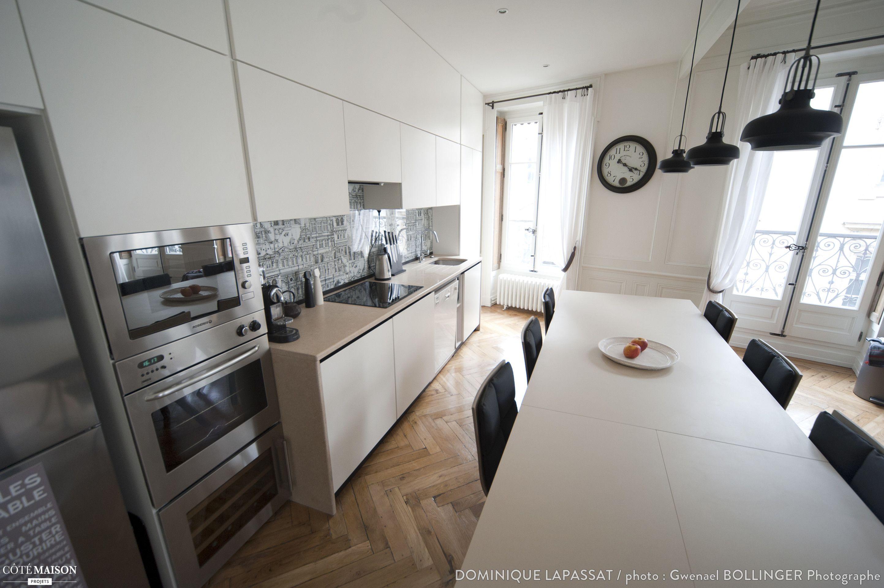r novation d 39 un appartement haussmannien lyon dominique. Black Bedroom Furniture Sets. Home Design Ideas