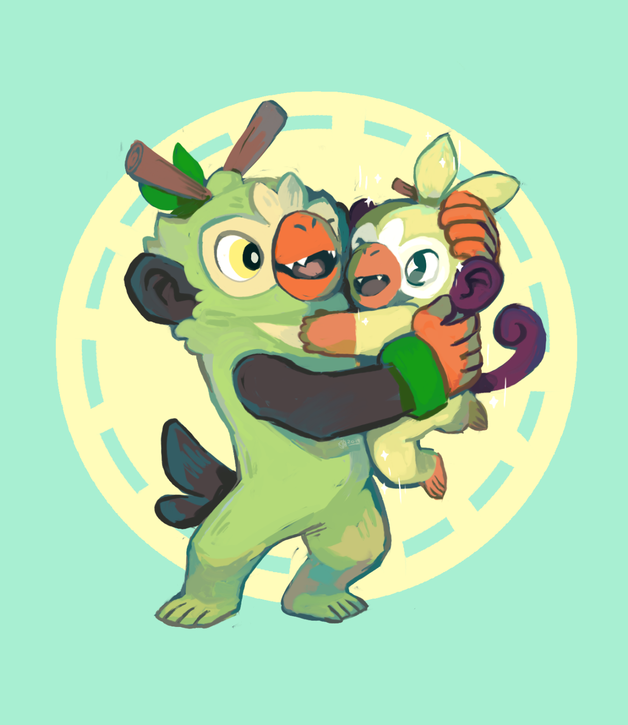 Krithidraws Hi Yall Im Still Alive Also I Hatched A Shiny Grookey The Other Day And My Thwackey Couldnt Be Prouder Of His In 2020 Pokemon Mario Characters Art Blog This is for a ultra shiny starter grookey with perfect stats(6iv) and the best moves for pokemon sword and shield, it will be at level 1. krithidraws hi yall im still alive