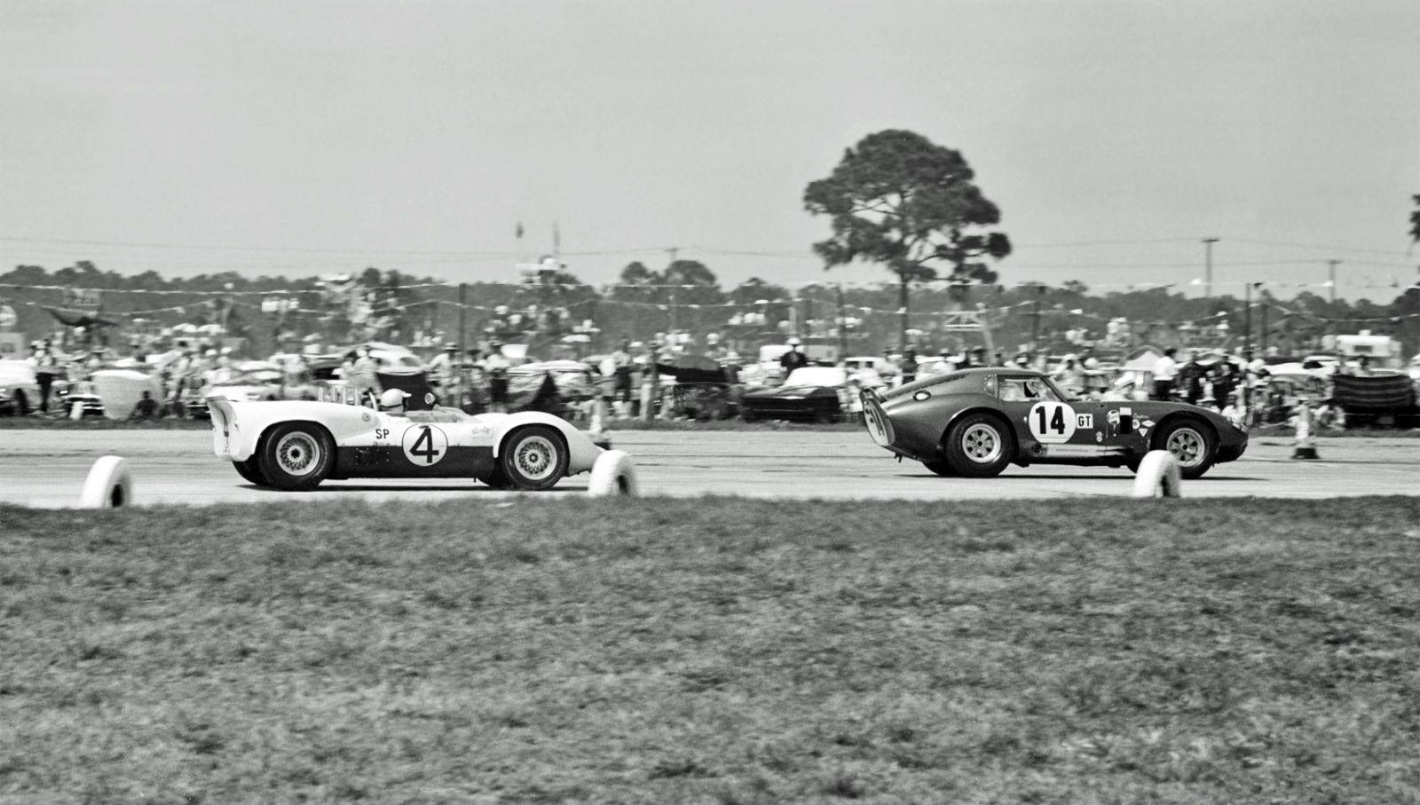 Al Bochroch captures a Shelby Cobra Daytona Coupe being