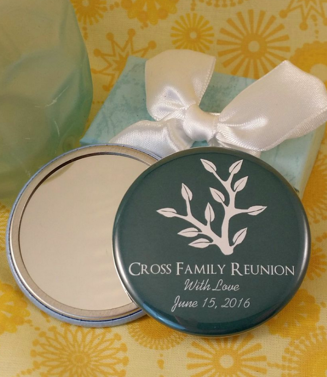 Family Reunion Mirrors Or Magnet Favors
