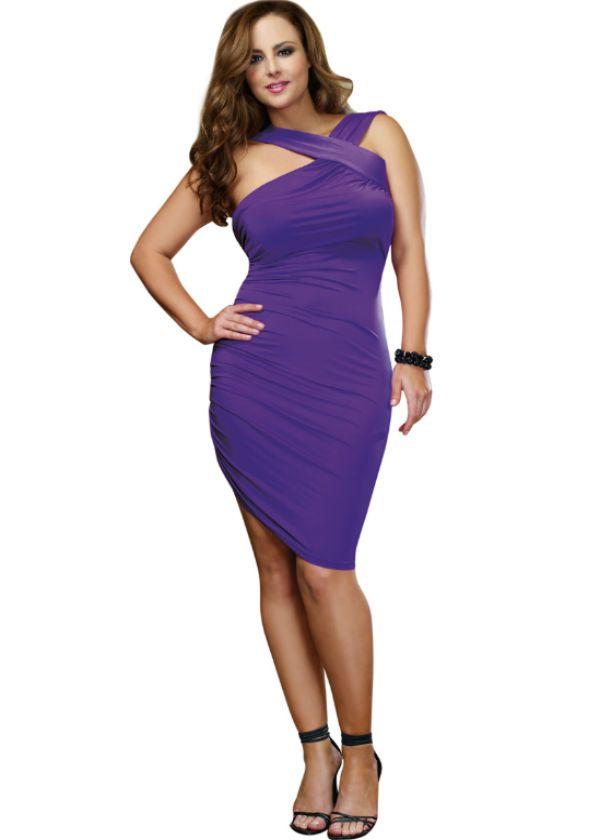 Slinky Purple Plus Size Dress. | Ropa mujer talles grandes ...