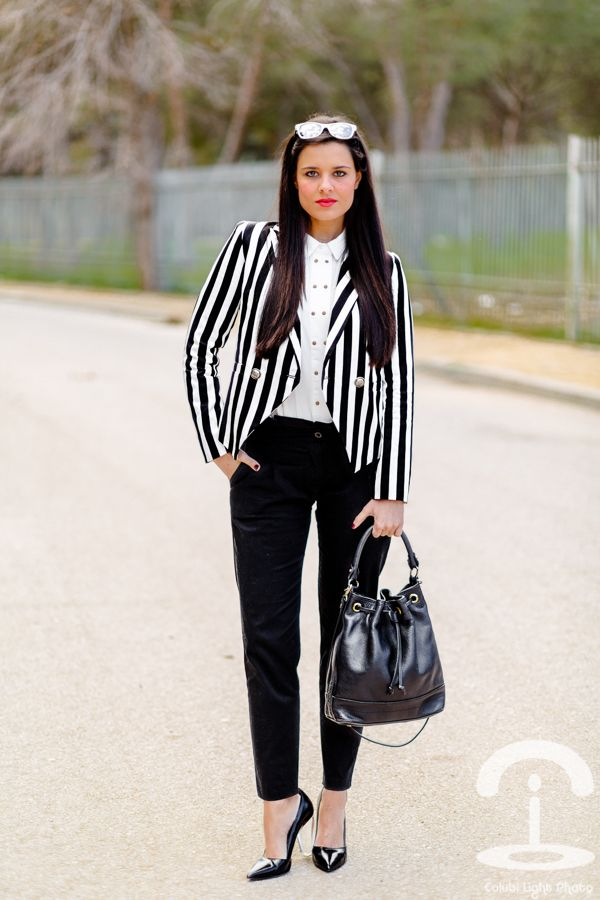 Black & White Stripes - Crimenes de la Moda - rayas blanco ...