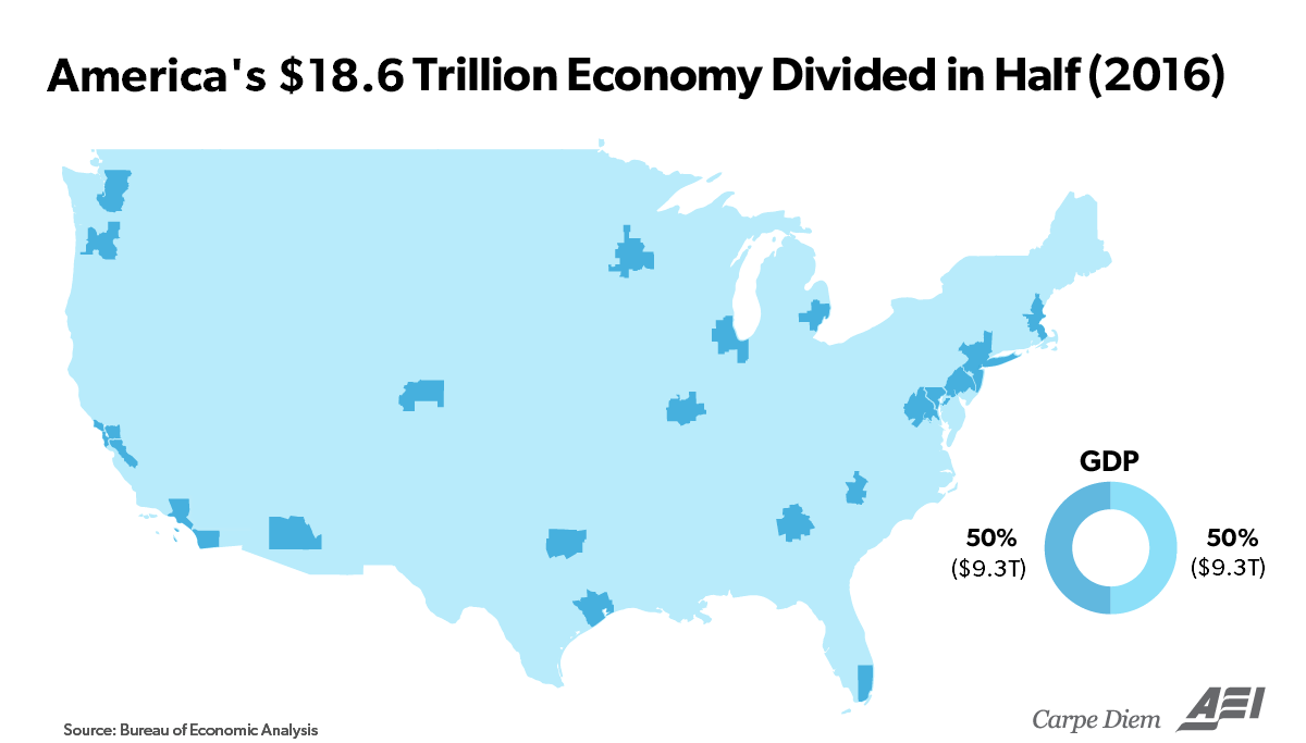 Understanding Americas Ridiculously Large T Economy By - Us map gdp countries