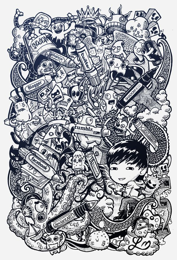 DOODLE ART Social Pens By Lei Melendres Via Behance