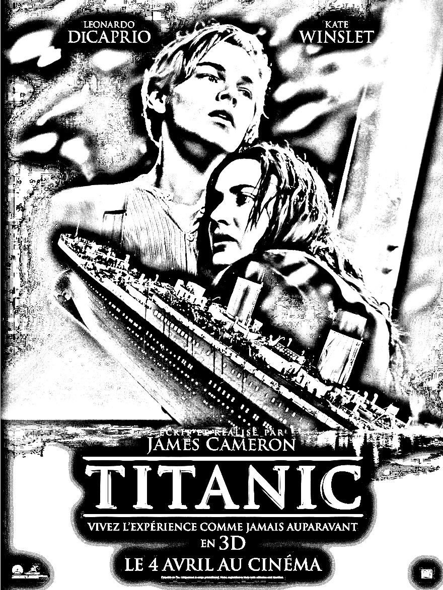 free coloring page coloring movie titanic a coloring page made with the fantastic