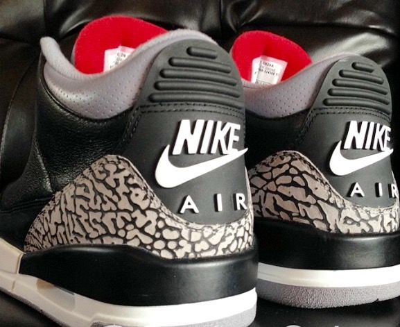 huge discount 9fc81 55f51 Black Cement 3s with the Nike Air treatment - The Holy Grail ...