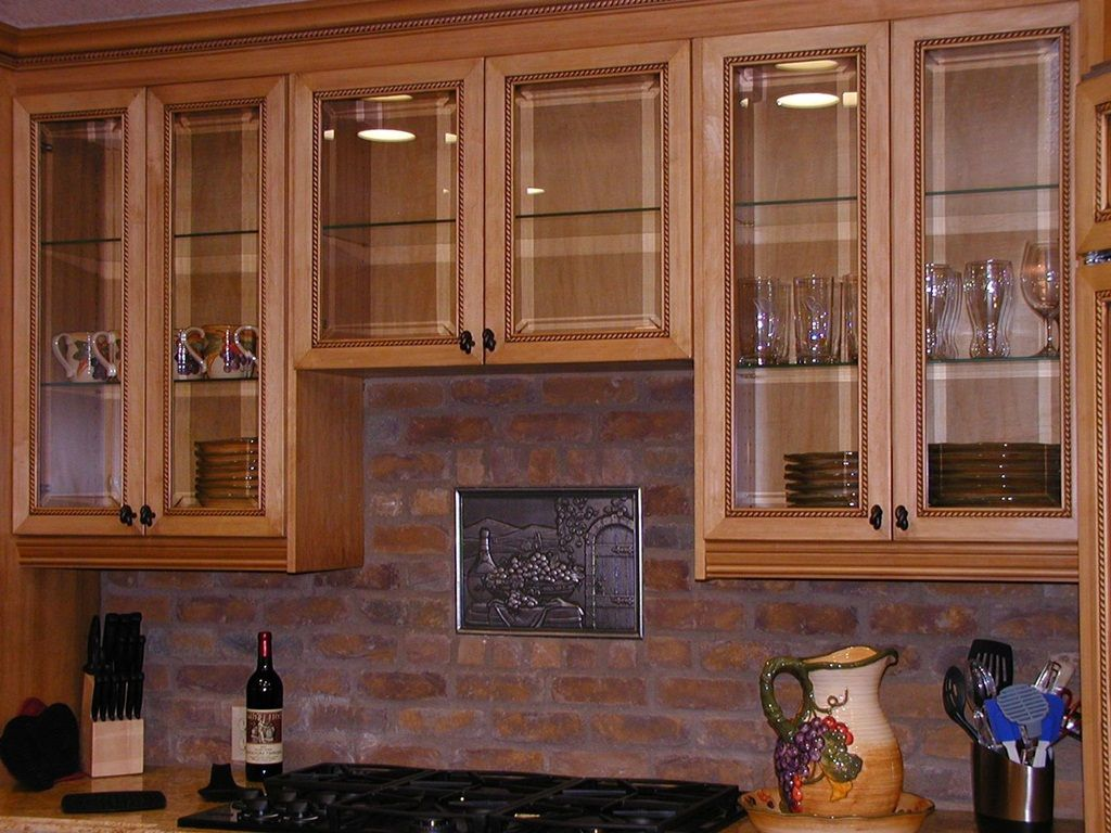 Enhance Your Kitchen Beauty With Glass Cabinet Doors – Various ...