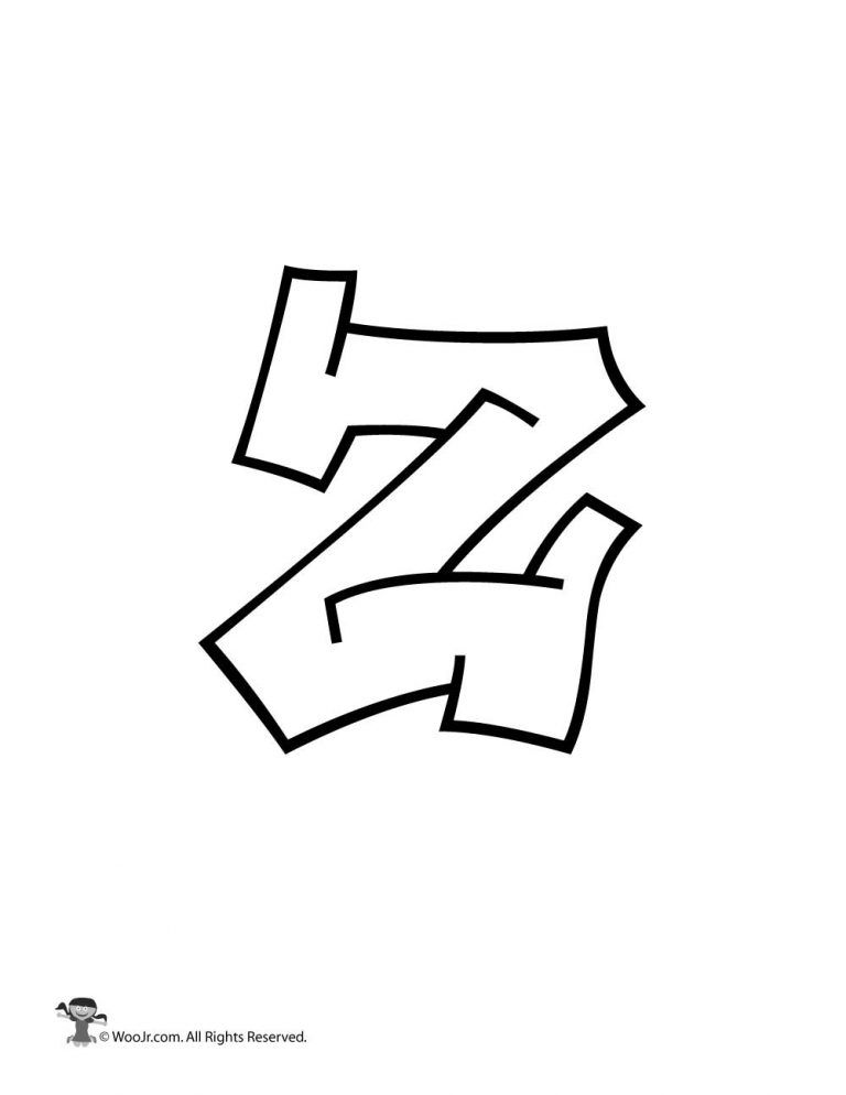 Graffiti Lowercase Letter z in 2019 | graffiti lrttering