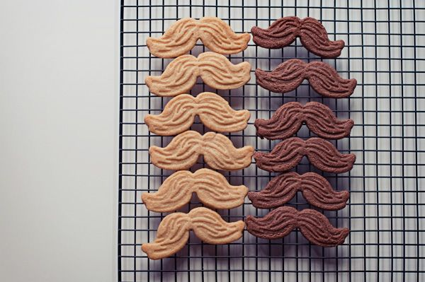 Basic Cinnamon + Chocolate Sugar Mustache Cookie recipe, via Alana Dimou