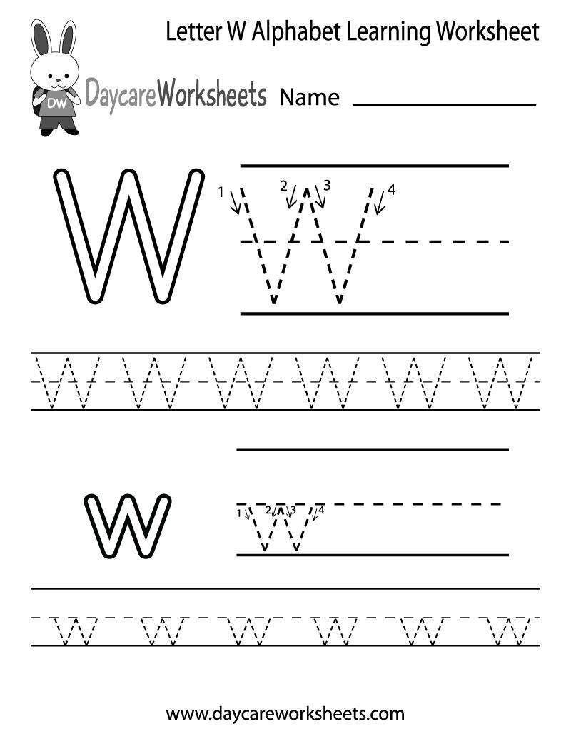 Alphabet Activities Worksheets Free In 2020 Alphabet Worksheets Free Letter W Worksheets Learning Worksheets
