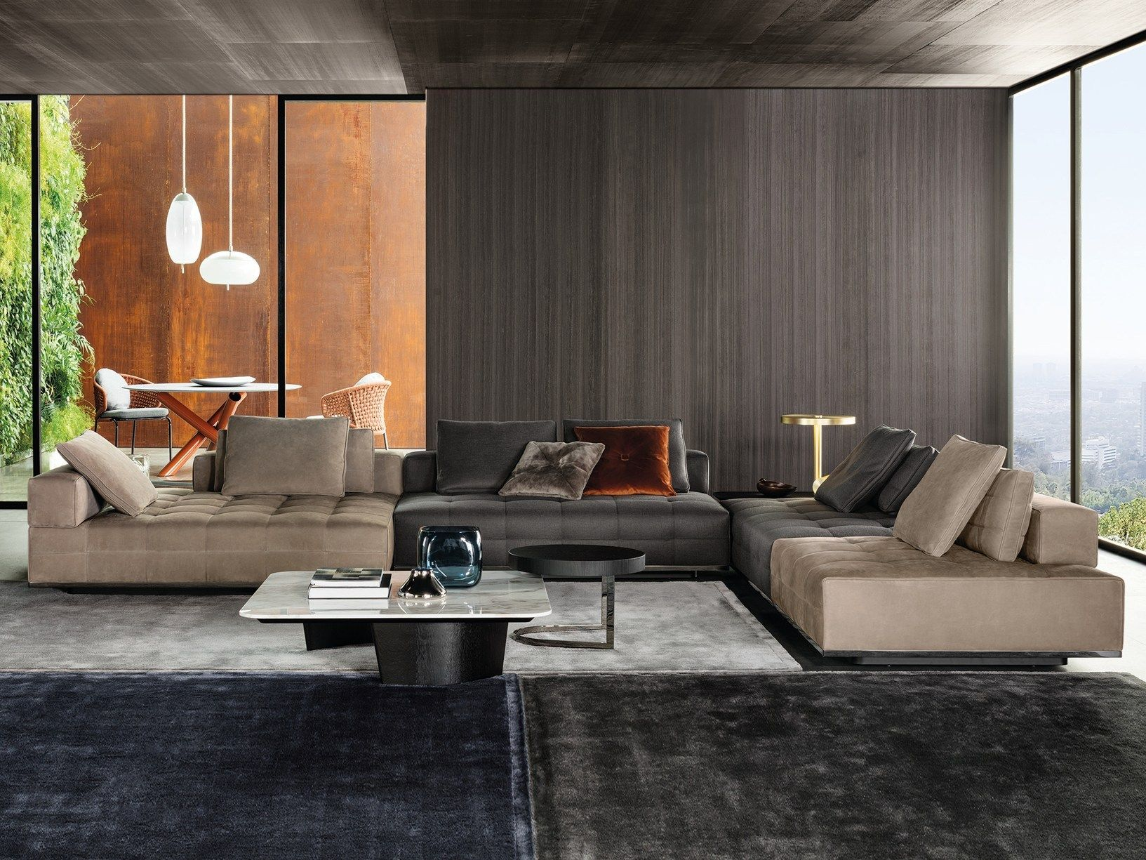 Lawrence Generous And Versatile Shapes New Minotti Seating System